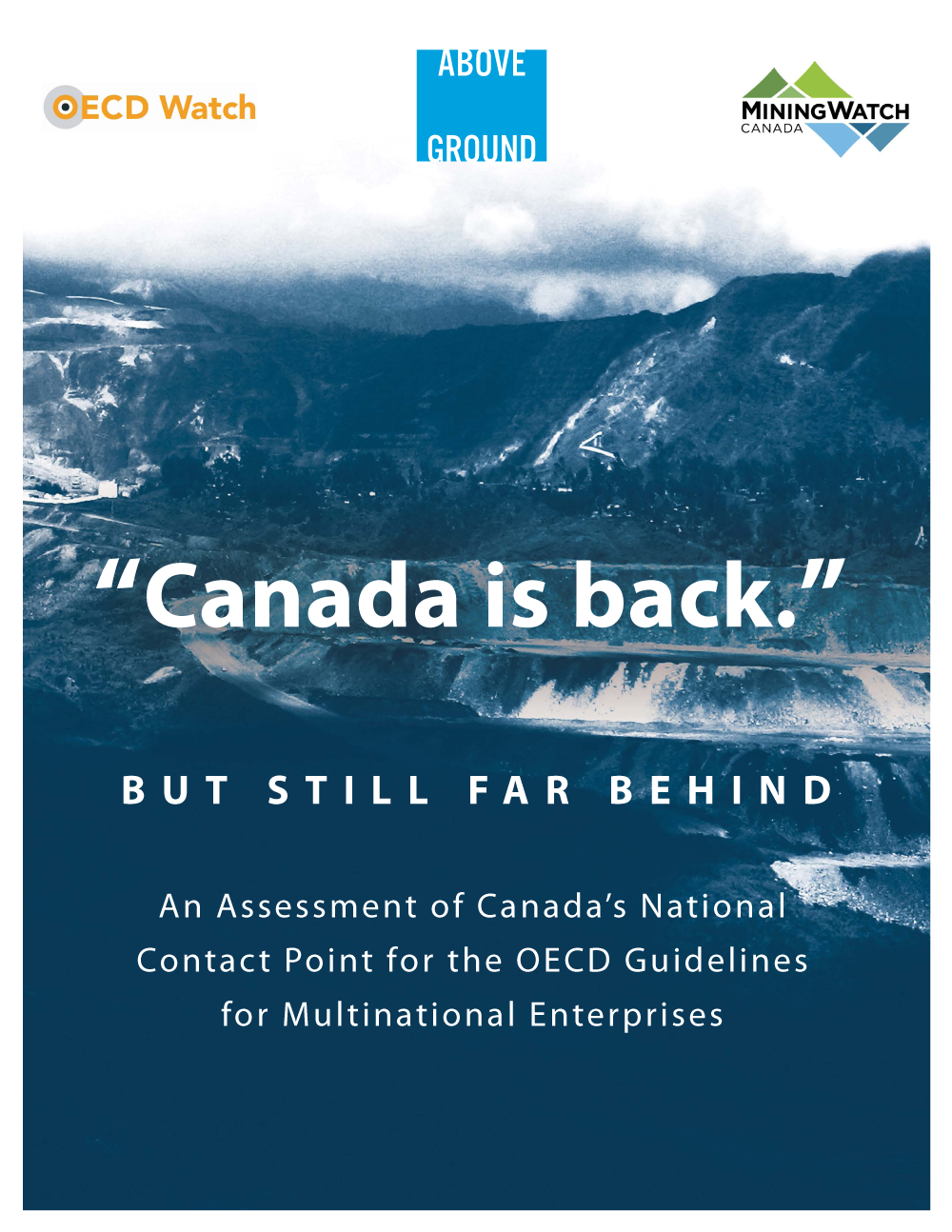 """Canada is Back... but Still Far Behind"" NCP report cover"
