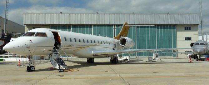 Bombardier jet