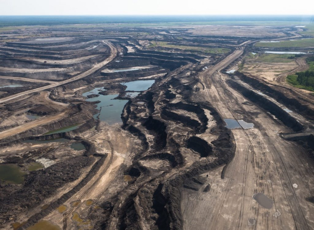 Oil sands mine near Fort McMurray, Alberta