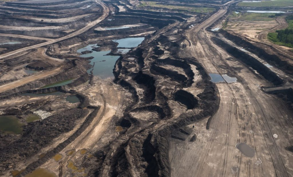 Oil sands mine near Fort McMurray, Alberta