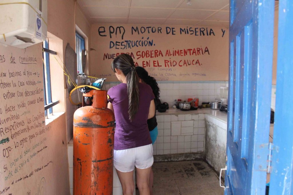 """Despite warnings and local opposition, Export Development Canada (EDC) helped finance company EPM's disastrous Hidroituango dam. Pictured: local graffiti reads """"EPM engine of misery and destruction."""""""